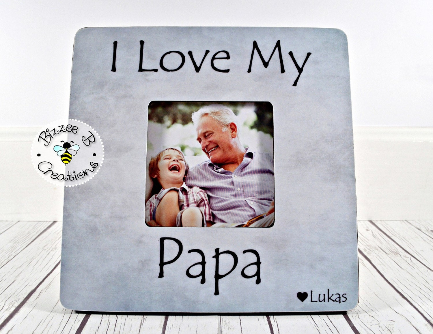 ON SALE Personalized Papa Picture Frame, I Love My Papa, Grandpa ...