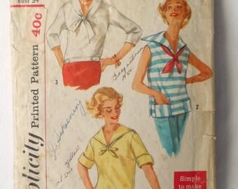 1958 Ladies Simplicity blouse pattern