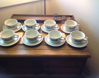 """Pfaltzgraff """"Yorktowne"""" Cups and Saucers Set of 8"""