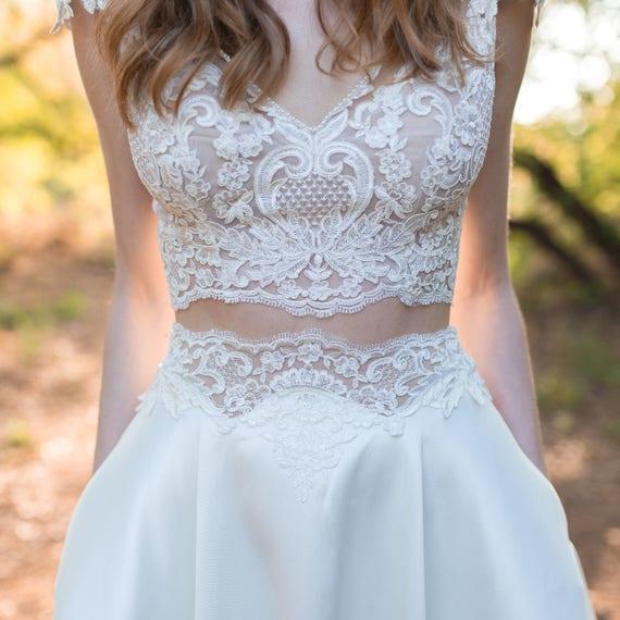 Elegant Wedding Dress Two Piece Wedding Dress Bridal Dress
