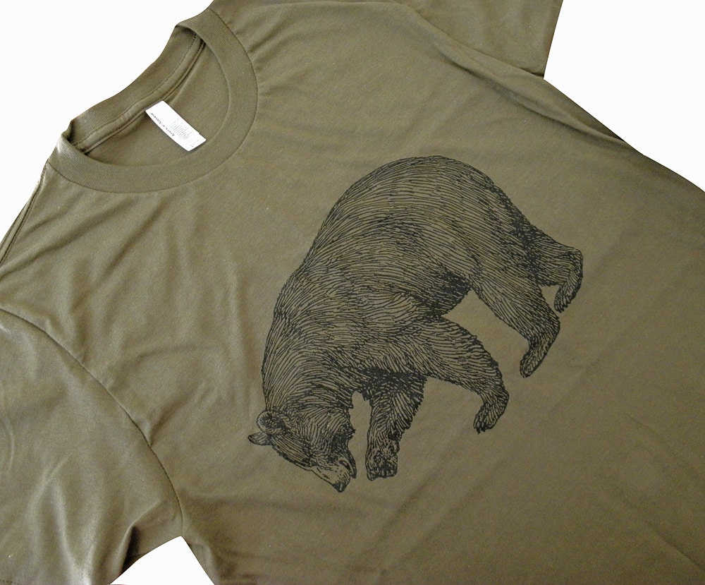 Bear t shirt grizzly bear california state bear mens shirt zoom publicscrutiny Image collections