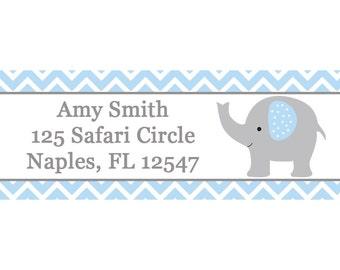 30 Return Address Labels Baby Shower ELEPHANT