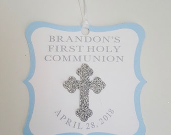 God Bless Favor Tags, Personalized Baptism Tags, Custom Communion tags, Religious tags, cross tags, party tags, thank you tags, holy tags