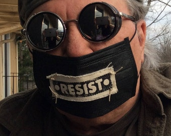 Resist Clothing,Rave Mask,resist patch,revolution,face covering,protest mask,resist,political mask,cosplay mask,protest,anti Trump,anarchy,M