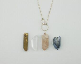 Crystal Necklace on 14k Gold Fill or Sterling Silver - Handmade in the USA