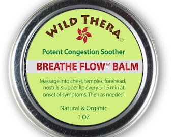 Breathe Flow Natural Sinus Relief, Allergy Relief & Stuffy Nose. For Colds, Cough, Headache, Sinus Infection Relief and Sinusitis.