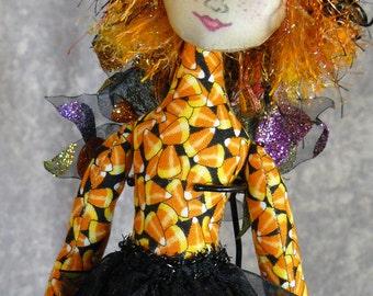 "Trick (Halloween) Fairy Pixelle -  12"" Art Doll"