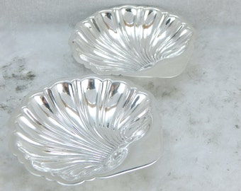 Highly Polished, Sterling Silver Scallop Shell Dish Set VNU1CA-N
