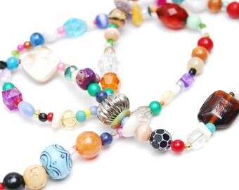 RandomJane necklace or bracelet colorful beaded hippie boho random style summer accessory made in Vienna