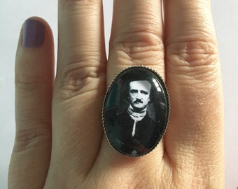 Edgar Allan Poe Inspired Cameo Ring