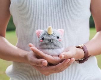 Phat the Rainbow Unicorn Amigurumi Plush Doll DIY Crochet Material Kit with pattern (full of magic!)