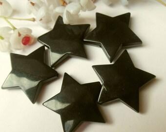 set of 5 plastic star beads