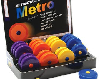 Retractable Metro Tape Measure Sewing Tape Measure Assorted Colors