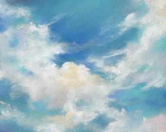 Cloud Dance - 4 X 6 inches ORIGINAL PASTEL PAINTING