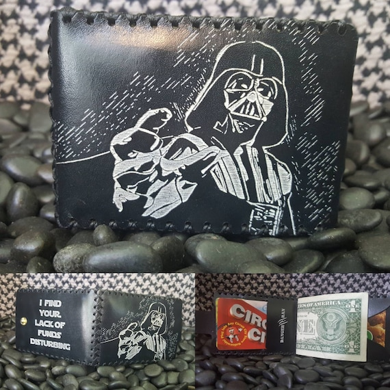 Darth Vader Bifold wallet made from Premium English Bridle leather.
