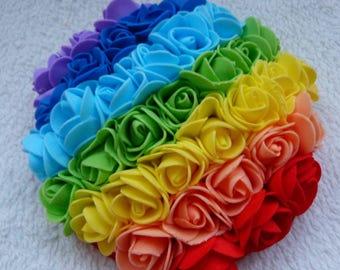 Pride Festival Rainbow Roses Fascinator - Handmade, Colourful, Lightweight, Unique and OOAK
