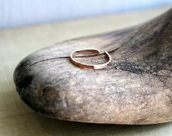 14K Rose Gold Fill Toe Ring- Flat -1.5mm body jewelry toe ring gold toe ring