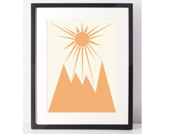 MountainIsh: Mountain Art, Mountain Wall Art, Mountain Print,Mountain Decor, Art Print, Pop Art, Wall Art, Wall Decor