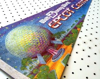 Vintage Epcot Center / Walt Disney World Souvenir Felt Pennant (1980s)