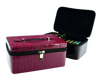 72 Holes PU Leather Essential Oil Carrying Case