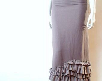 Organic cotton long skirt, maxi skirt, handmade skirt, organic clothes