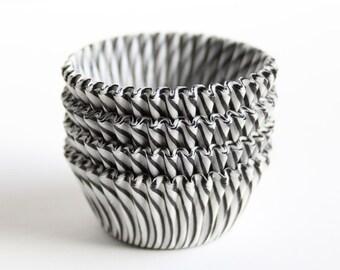 MINI Black Stripe Cupcake Liners (60)