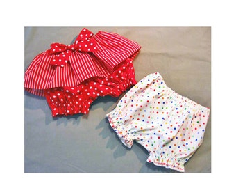 Baby diaper cover sewing pattern, FANCY PANTS pdf sewing pattern for babies & toddlers sizes 3 mths to 6 yrs