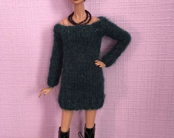 Knitted dress for Fashion royalty dolls