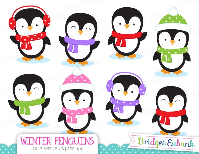 clip art penguin clipart winter penguins clip art penguin rh etsy com penguin clip art frame penguin clip art black and white