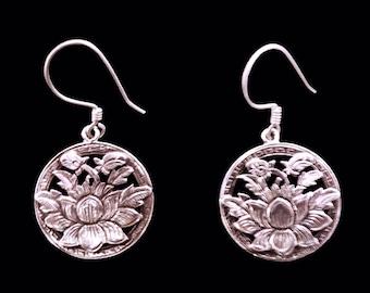 Lotusflower Silver Earrings