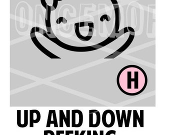 Up and Down Peeking Munchkin Vinyl WITH bow - (H)