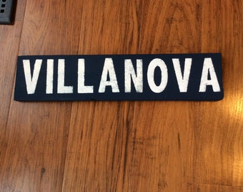 Villanova or Wildcats sign