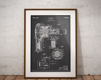 Barber shop decor gift for hairdresser barber gifts barber hair drier patent poster hair dryer patent print hair salon wall art hair malvernweather Gallery