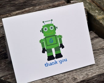 Kids Personalized Stationery / Kids Notecards / Kids Notes / Kids Thank You Note Cards Robot