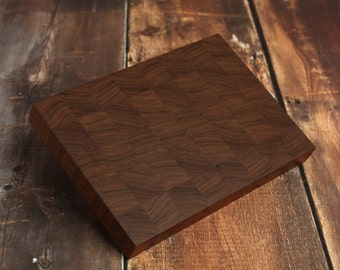 Walnut End Grain Cutting Board, Custom End Grain Cutting Board, Butcher Block, Walnut Chopping Block