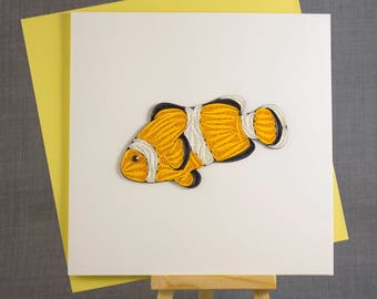 3D Handmade Card  Quilling Card Quilled Fish Animal Card Paper Quilling