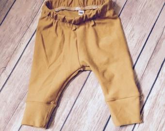 Gold Baby Pants- Mustard Leggings