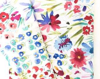 Watercolor Floral Cluster, fabric, Fabric By the Yard, apparel fabrics, 100% cotton, bedding