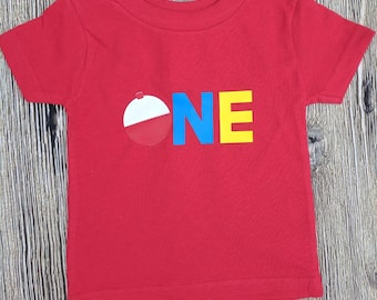 Toddler boy Fishing birthday shirt, boys first birthday shirt, first birthday fishing shirt, fishing lure shirt, boys birthday shirt,