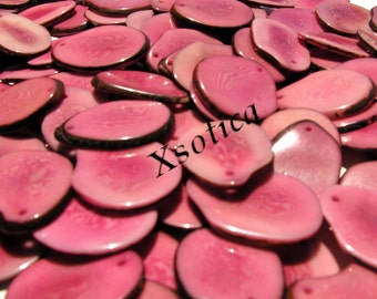 Pink Tagua Large Slices. QTY: 2pcs