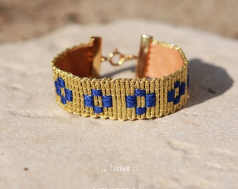 Bracelet large doré, Luisa.