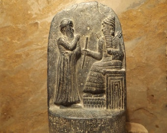 Babylon law code of Hammurabi - Akkadian Cuneiform Mesopotamian art / sculpture
