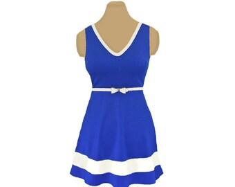 Blue + White Skater Dress