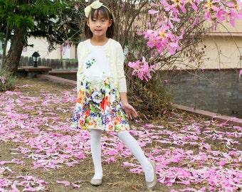 Jacquard Floral Pleated Dress