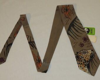NWT NOS 1991 WWF World Wildlife Fund Jaguar #137 100% Silk Tie / Necktie Made In United States New