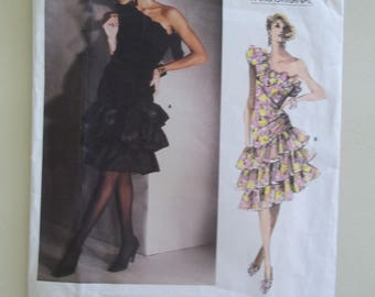 Givenchy Dress Pattern ~ Vogue 1702 ~ Vintage 1980's Dress ~ Vogue Paris Original ~ Size 8