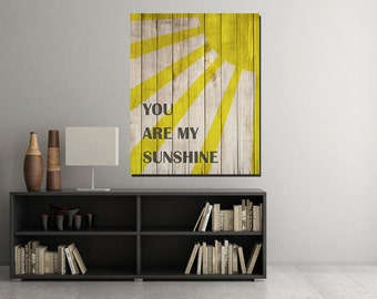You Are My Sunshine Wood Sign, You Are My Sunshine Wall Art, Baby Nursery  Art, Nursery Art Print, Printable Nursery Decor , Digital Download
