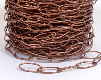 Long Cable Chain - Antique Copper - CH23-AC - Choose Your Length