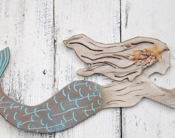 Captivating Mermaid~ X Large Mermaid Wall Decor~Mermaid Decor~Mermaid Wall Art~Mermaid  Wall Decor~Mermaid Decor~Patina~Nautical~Mermaid Wall Decor