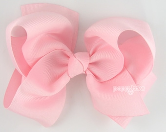 "Extra Large Hair Bow, 6"" Light Pink Hair Bow, 6 inch hair bows, big bow, giant bow, extra large bow, jumbo bows, hair bows for girls huge xl"